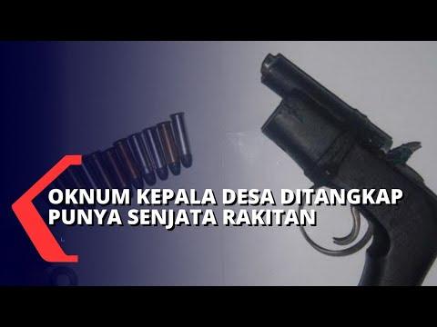 simpan senjata rakitan oknum kepala desa ditangkap