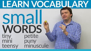 "Improve your vocabulary: Synonyms for ""small"" in English"