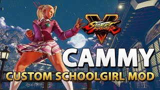 Custom Schoolgirl Cammy (C7) - Street Fighter V Mod