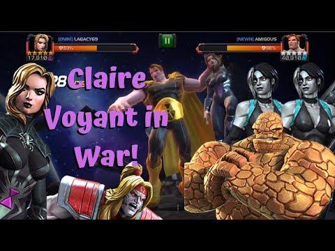 Claire Voyant in Alliance War! Spite Path 4! MVP - Marvel Contest of Champions