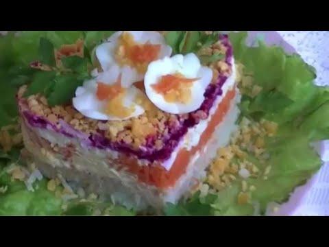 Салат Мимоза рецепт со свеклой.