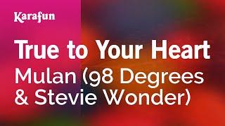 Karaoke True To Your Heart - 98 Degrees *