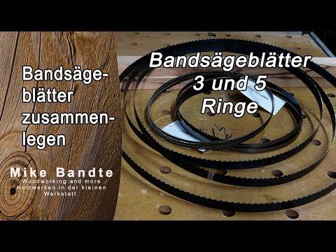 Bandsägeblätter zusammenlegen. 3 oder 5 fach; Bandsäge Tipps