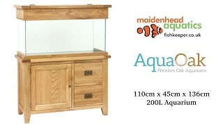 Aqua Oak 110cm 'Doors & Drawers' Aquarium and Cabinet (AQ110DD)