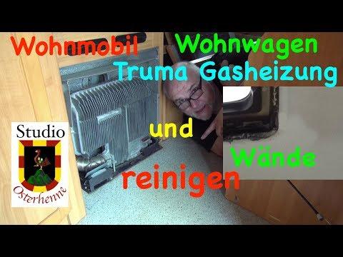 Truma Heizung Gasheizung Lüfter Säubern Wände reinigen im Wohnmobil bzw. Wohnwagen