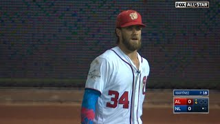 2017 ASG: Harper gets mic'd up in right field