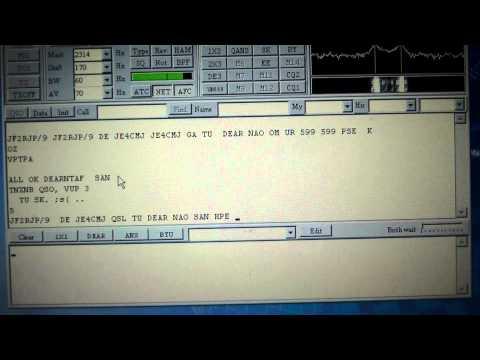 アマチュア無線での文字通信の様子(RTTY PSK31)