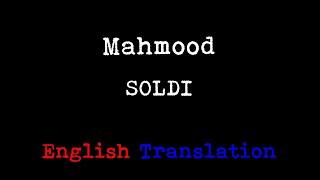 Mahmood - Soldi (English Translation)