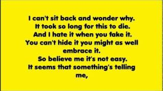 Sum 41 - In Too Deep Lyrics (Live)