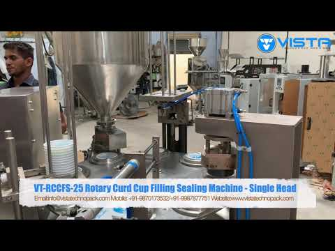 Rotary Curd Cup Packing Machine