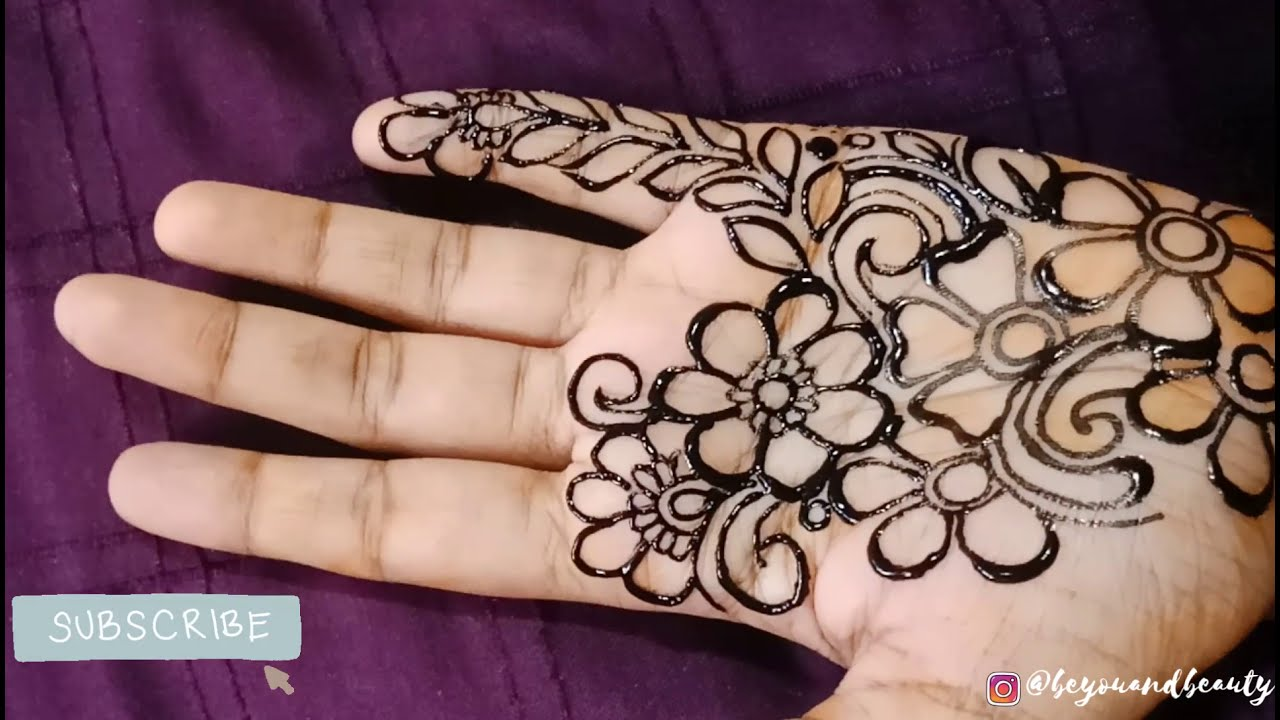 colorful instant mehndi design for hand by be you and beauty