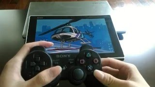 GTA Liberty City cheat code with PS3 controller on Sony Z2 tablet