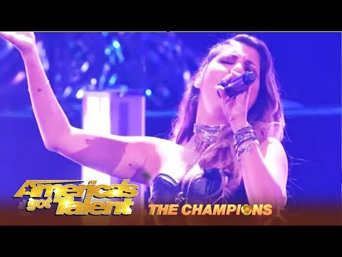 Cristina Ramos: Spain's HOTTEST Rock Chick With Epic Voice Finals Performance | AGT Champions (видео)