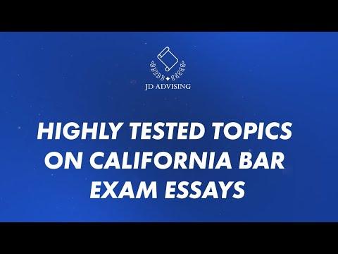 Highly Tested Topics on California Bar Exam Essays