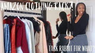Amazon Clothing Rack?! | Meet My Parents | 12 Days Of CRYSmas - Day 2 | Crystal Nicole
