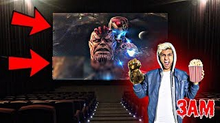 DO NOT WATCH AVENGERS MOVIE AT 3AM!! *OMG THANOS CAME TO MY HOUSE*