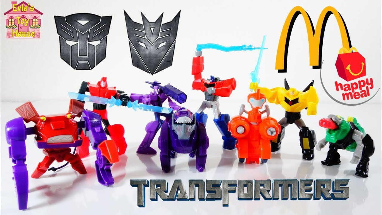 2015 Transformers McDonalds Happy Meal - Optimus Prime, Bumblebee, Grimlock - Complete Set