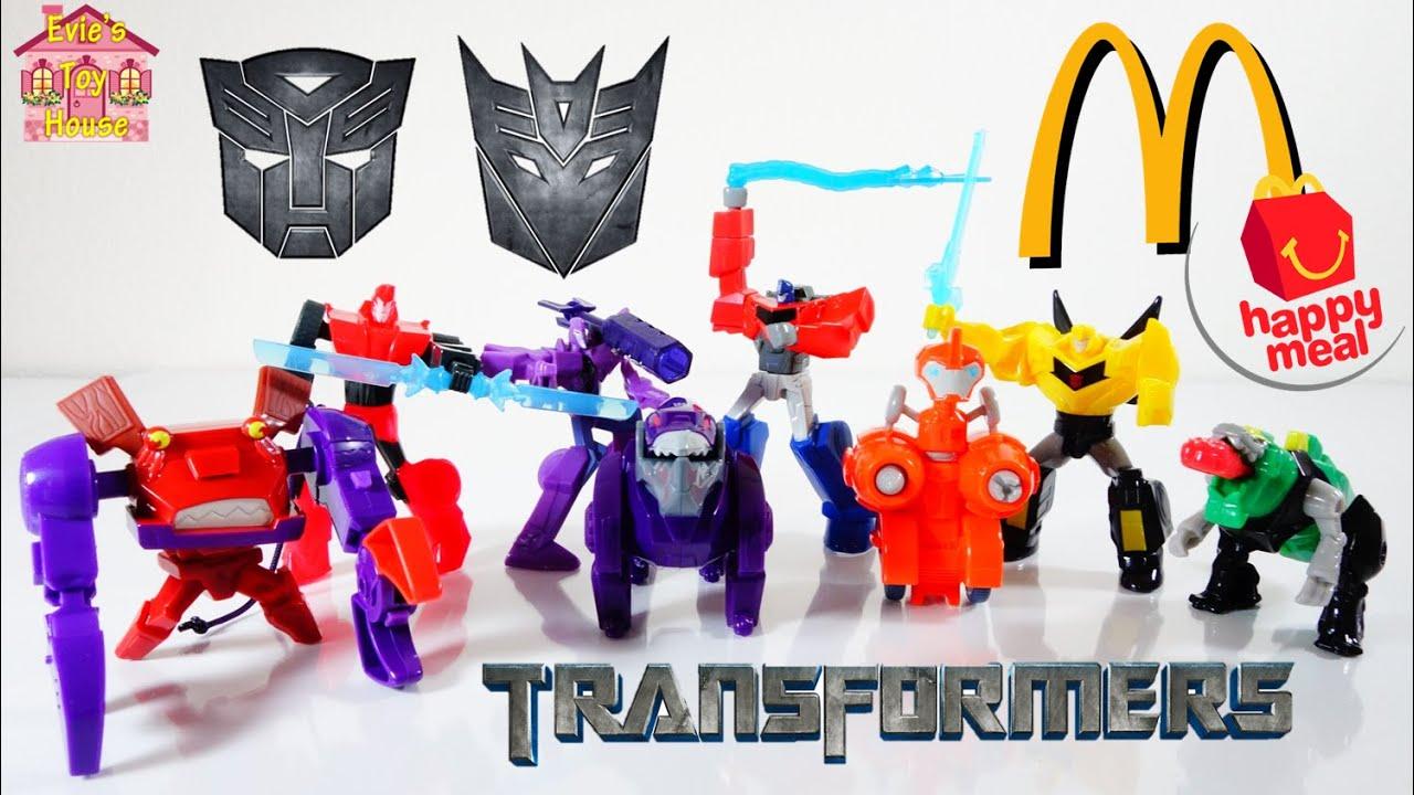 2015 Transformers McDonalds Happy Meal - Optimus Prime, Bumblebee, Grimlock - Complete Set