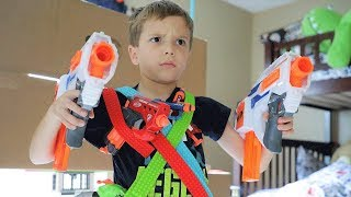 Nerf War : Mayka Tape Challenge (Liam Lost and This Happened)