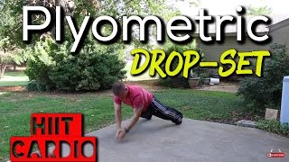PLYOMETRIC DROP SET…. HIIT fat burning home workout! by Trainer Ben
