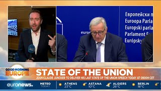 Jean-Claude Juncker To Deliver His Last State Of The Union Speech Today