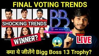 Bigg Boss 13: Final Voting Trends | Who will Win Bigg Boss 13 ? | Shocking Final Trends