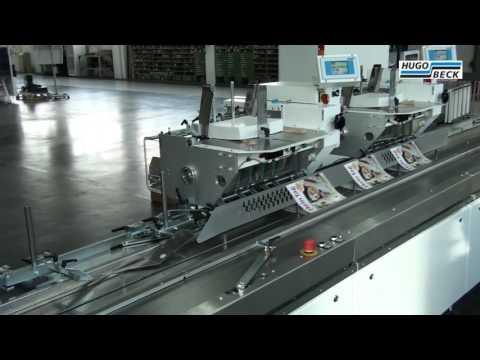 Druckweiterverarbeitung mit Hugo Beck Einsteckmaschine ESM