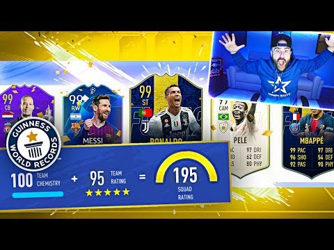OMFG I GOT A 195 DRAFT!!! FIFA 19 Ultimate Team Highest rated Draft ever!