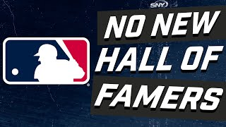 Reaction to no one getting elected to the Baseball Hall Of Fame Class of 2021 | SNY