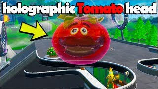 Dance inside a holographic Tomato head - FORTNITE SEASON 9 WEEK 4 CHALLENGES
