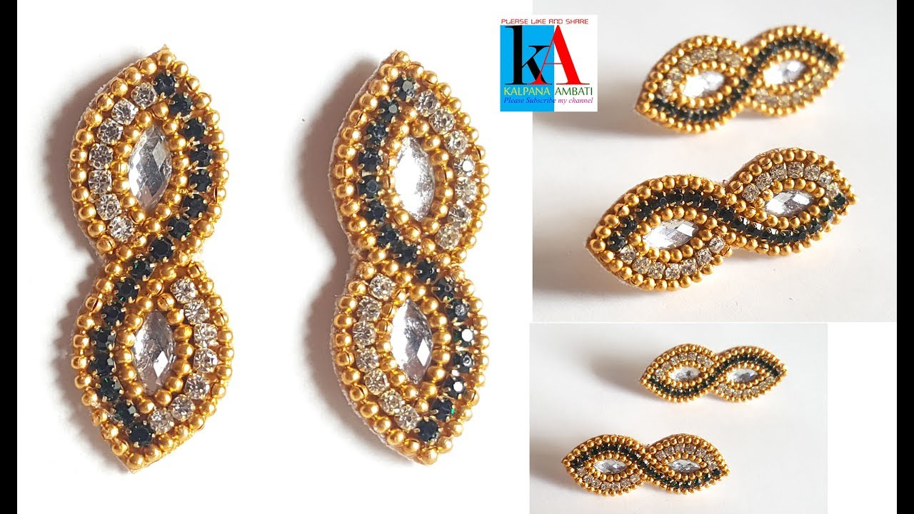kalpana ambati. Making jhumkas and bangles in a new style.