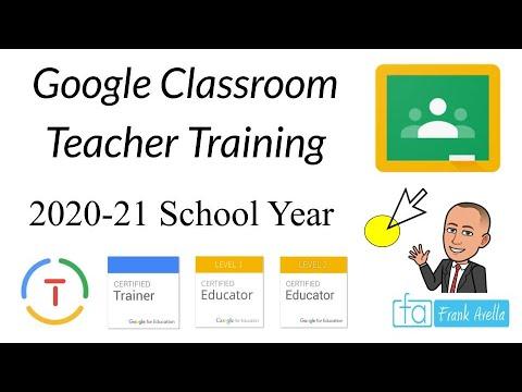 Google Classroom: Teacher Training (2020-21 SY) - YouTube