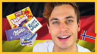 Norwegian Trying German Candy