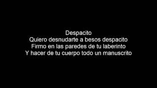 Luis Fonsi Despacito - Lyrics