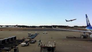 成田空港喫煙室からANNさんの飛び立つところ