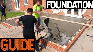 Bricklaying - How To Do Foundations For House Extension