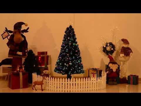 HomCom Albero di Natale Artificiale 180 Rami con Luci LED