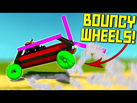 Racing With Flubber Wheels Is Actually Insane and Dumb. DON'T - Scrap Mechanic Multiplayer Monday