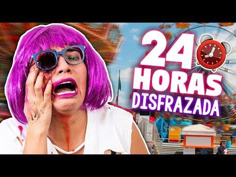 24 HORAS con DISFRAZ DE HALLOWEEN *sin un ojo por un día* ✄ Craftingeek