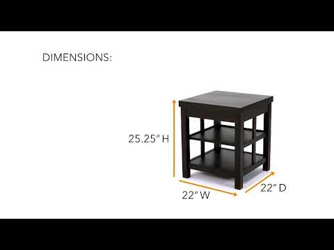 Gavelston T752-2 Square End Table