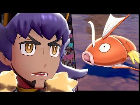 《寶可夢 劍/盾》鯉魚王一發水砲秒殺噴火龍,擊敗了丹帝