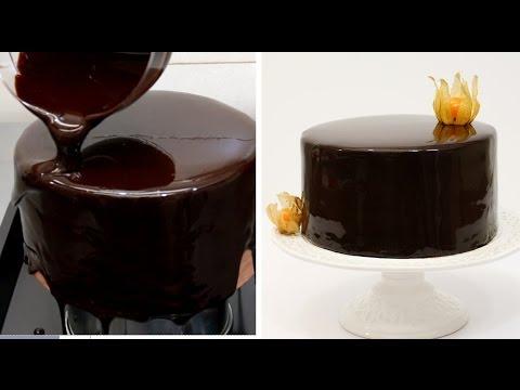 Video Chocolate Mirror Glaze Cake Recipe CHOCOLATE HACKS by Cakes Step by Step