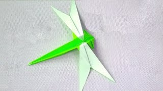 How To Make Origami Dragonfly | EASY ORIGAMI  TUTORIAL BY ASHVINI