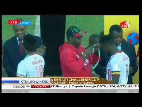 Washindi wa nne wa dimba la CECAFA Uganda walaza timu ya Burundi kuchukua nafasi ya tatu