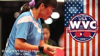 2018 World Veteran Championships Womens Singles over 55 Final   Lily Yip vs Qin Jianhong