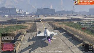 GTA 5 - Thử 1 Mình Cướp Máy Bay Quân Đội (Không Chỉnh Bất Tử)