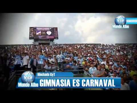 """La hinchada de Gimnasia"" Barra: La Dale Albo • Club: Gimnasia y Tiro"