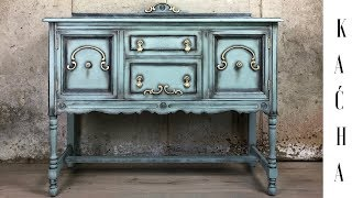 DIY Furniture Buffet Makeover / Annie Sloan Chalk Paint