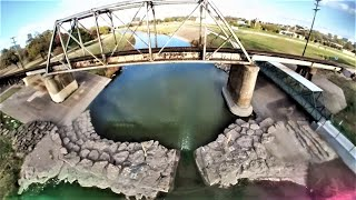 Trinity River Train Bridge! FPV Proximity Freestyle Practice! Getting Better & Braver! Stark 6S Quad
