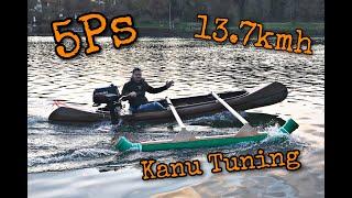 Kanu Tunig mit 5PS und Ausleger